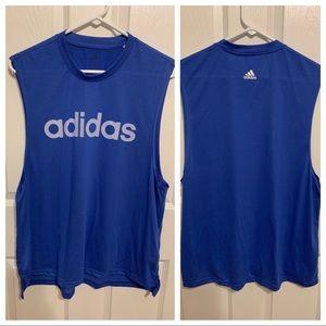 Adidas Women's Blue Muscle Tank